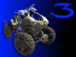 Halo 3 Wallpaper Blue w Goose by Joeshmoe59697