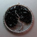 Silver and Onyx Tree of Life pendant by craftymama