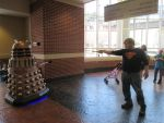 The DOctor and The Dalek at ComicCon by dhbraley