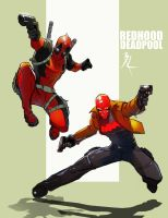 Redhood and Deadpool by TheBabman