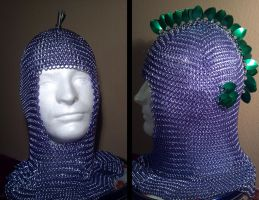 My Little Pony Spike The Dragon Chainmail Coif by TheGiantsnoll