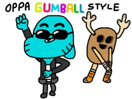 Gumball Gangnam Style by MigsGarcia5127