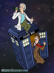 Rick and Doctor Who by MikeWee
