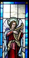 Angel stained glass window by seleora