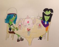 Ivy's tea party with Ace by DarkRoseDiamond123
