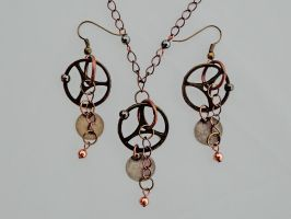 Steampunk Copper and Brass Set by Sarinilli