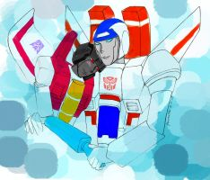Starscream x Skyfire by hcjlin