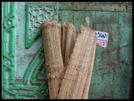 Green Door in Cairo by doriano