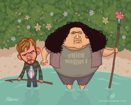 charlie and hurley go fishin by fizzgig