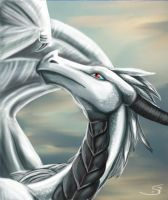 albinotic dragon lady by Schiraki