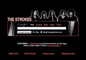 The Strokes Startpage by AwesomeStart