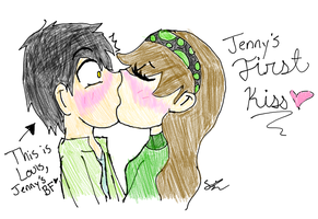 Pucker Up!!! (JennyxLouis) by GalaxyCookie