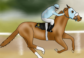 Flying (Honor's Cry's 2yo old season) by Spotted-Tabby-Cat