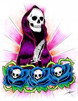 Grim Reaper Tattoo Flash by aworldasleep