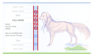 Dog Reference Page (Free Running River Kennels) by PaintedCricket