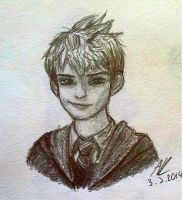 Jack Frost as Hogwards student by AnMaInKa
