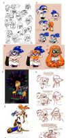 Splatoon Art Dump04 by TamarinFrog