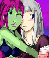 Zombie Girl and Lily by xJaybirdx