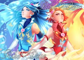 Grown-ups - Cure Aqua and Cure Rouge by rika-dono