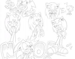 1-2 Minute Sonic Sketches by FritzyBeat