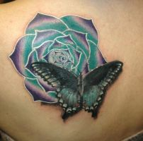 butterfly with exotic flower by KisBrigi