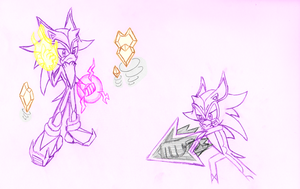 Concept Art: Arcane the Hedgehog by moralde10
