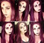 Raven make up test (Teen Titans) by UnholyLilith
