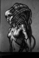 robotic girl- paint by streetX222
