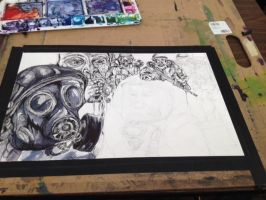 Hazmat Army Drawing In Progress by nuthingoodatfour