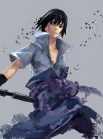 Speed paint:Sasuke by Anixien