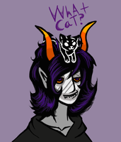 Gamzee and a kitty cat by serpentinesanguinine