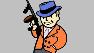 Salvador The Gunzerker Themed Vault Boy Gangster by Greenday2004