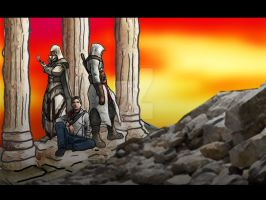 Assassins creed hetalia wall by chaos-dark-lord