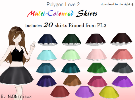 {MMD} DOWNLOAD:  PL2 Skirt Pack by MMDMariaxx