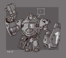 Mecha Sketch 10 by cwalton73