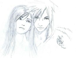 A tribute Tifa X Cloud by HavocWraith