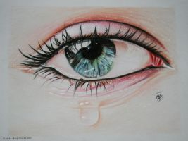 The crying eye by LOVE--WING