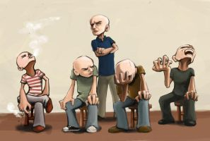 bald guy by Rafaelmox