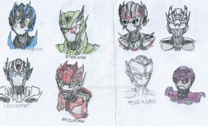 Transformers Prime: OC Busts by Mystic2760