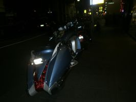 motorcycle at night by LuchareStock