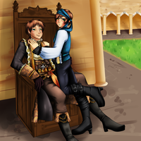 every captain needs a wench by SpaceRoma