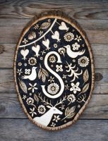 Woodburned Plaque by Groovygirlsuzy17