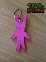 T and B Bunny Keychains by Clare-Sparda