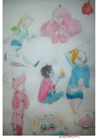 Adventure time watercolor dump2 by memmemn