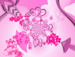 Pink Hearts by GintasDX