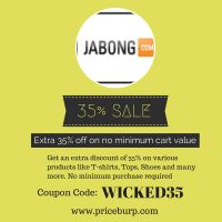Extra 35% off at Jabong.com by siddharthkamble987