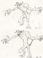 Deathclaws sketches by Nyxelian