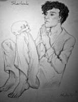 Sherlock + skull by Gnomeified
