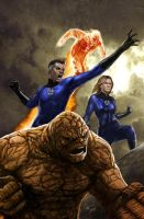 Illustration fantastic four by galindoart