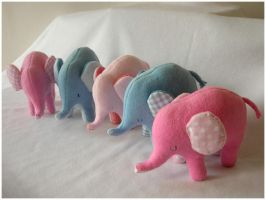 Herd of Elephants by elbooga
